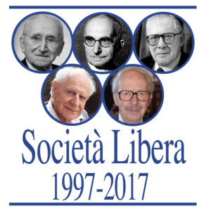 Il logo creato per il ventennale di Società Libera