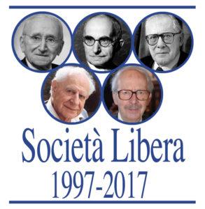 Il logo creato per il ventennale di Società Libera