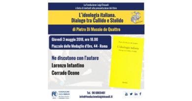 Presentazione del libro di Pietro Di Muccio De Quattro L'ideologia italiana. Dialogo tra Callido e Stolido