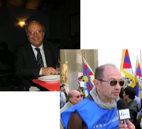 Un primo piano di Giorgio Ercolani e Luca Ostellino