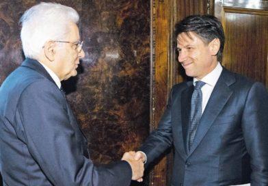 da sinistra: Sergio Mattarella Presidente della Repubblica e Giuseppe Conte Presidente del Consiglio dei Ministri