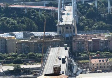 Il ponte Morandi di Genova dopo il crollo