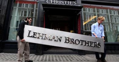 La targa di Lehman Brothers va all'asta