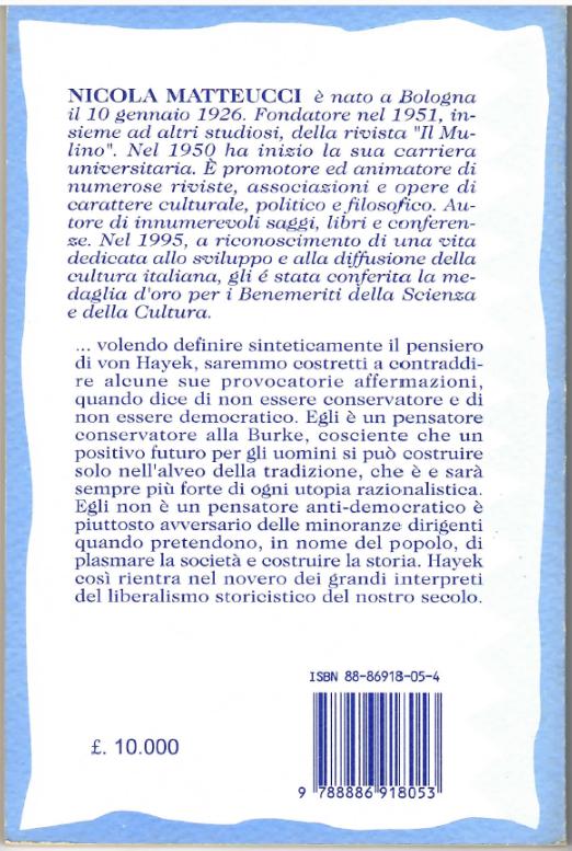 Il retro copertina del libro La eredità di Von Jayek