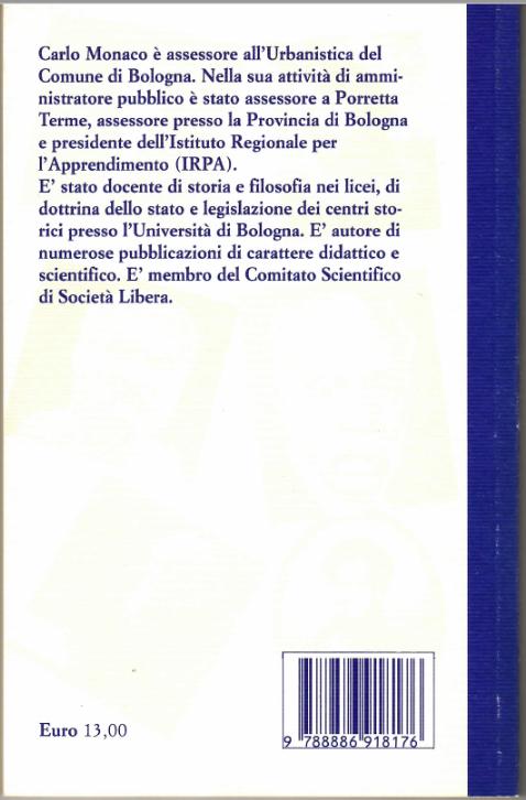 Il retro copertina del libro Le ragioni della politica