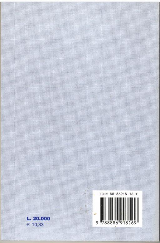 Il retro copertina del libro Marco Minghetti e le sue opere