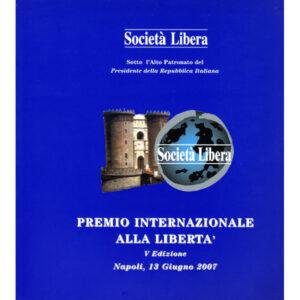La copertina del catalogo Premio internazionale alla libertà 5° edizione