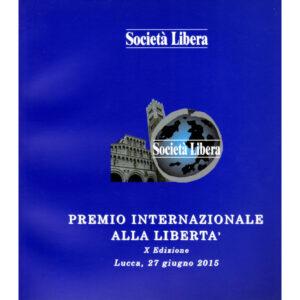 La copertina del catalogo premio internazionale alla libertà 10° edizione