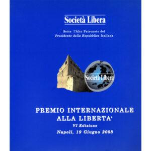 La copertina del catalogo premio internazionale alla libertà 6° edizione