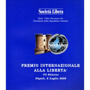 La copertina del catalogo premio internazionale alla libertà 7° edizione