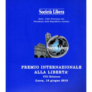 La copertina del catalogo premio internazionale alla libertà 8° edizione