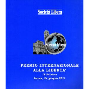La copertina del catalogo premio internazionale alla libertà 9° edizione