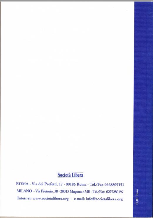 La copertina del libro 3° rapporto sul processo di liberalizzazione della società italiana