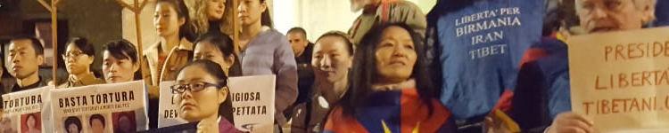 Roma – flash mob per ricordare al Presidente cinese il rispetto dei Diritti Umani e le drammatiche condizioni dei Popoli Tibetano ed Uyghuro – 22 marzo 2019