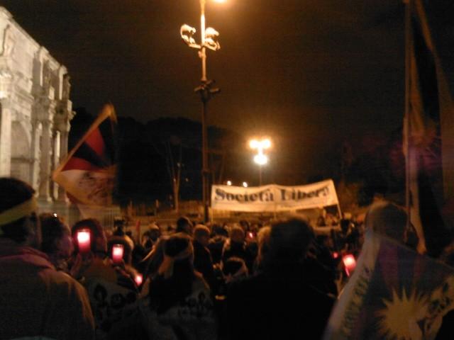 Roma, Fiaccolata pro Tibet, 10 marzo 2009