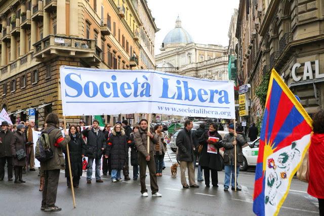 Roma, I Marcia Internazionale per la Libertà, 30 novembre 2008