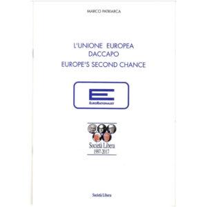 La copertina del libro di Marco Patriarca L'Unione Europea daccapo