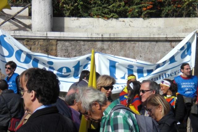 Roma, II Marcia Internazionale per la Libertà, 24 ottobre 2009