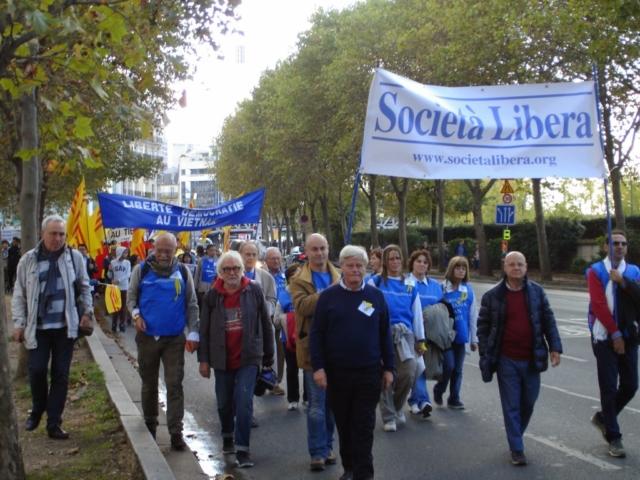Parigi, VII Marcia per la Libertà delle Minoranze e dei Popoli oppressi, 11 ottobre 2014