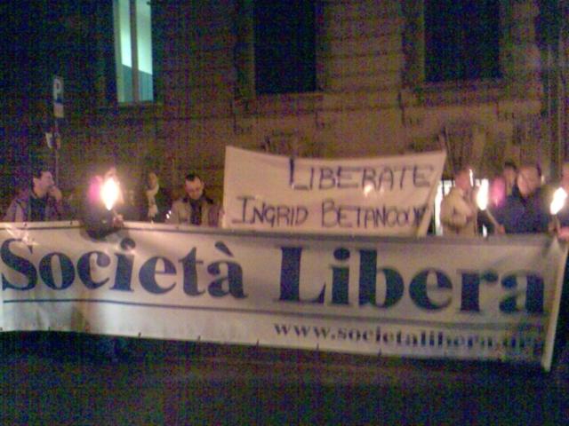 Roma, Fiaccolata per la liberazione di Ingrid Betancourt, 22 gennaio 2008