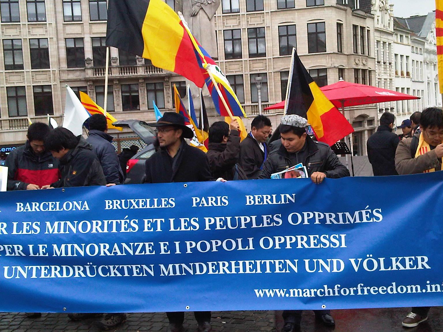 Bruxelles, V Marcia per la Libertà, 13 ottobre 2012