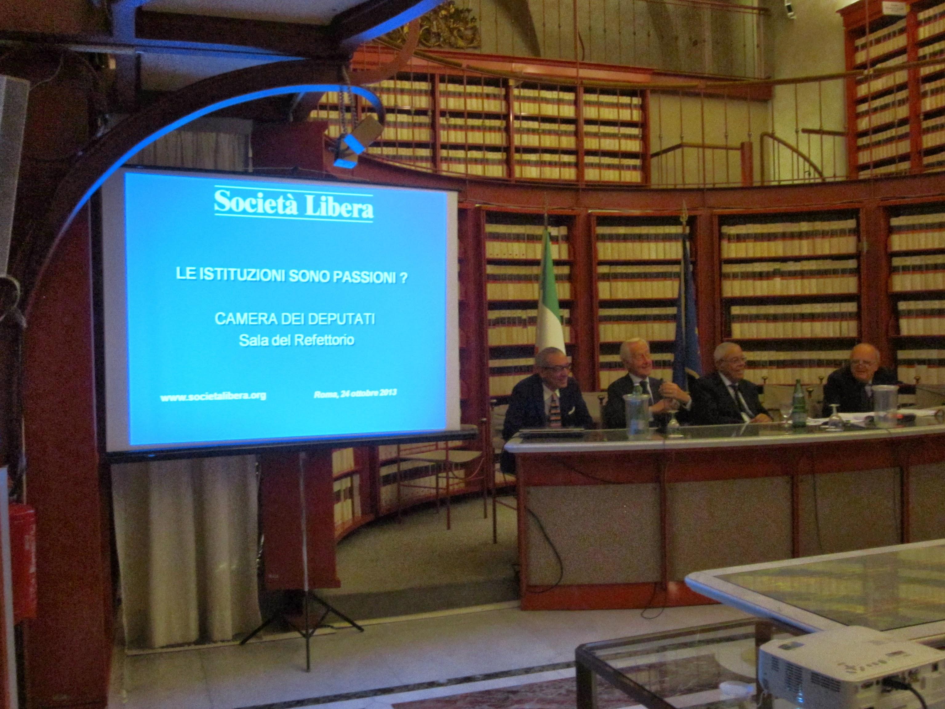Roma, Convegno Le Istituzioni sono passioni, 24 ottobre 2013