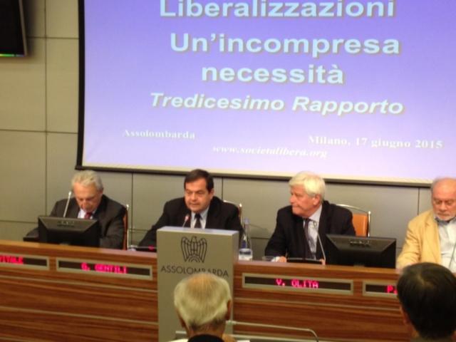 Milano, 13° Rapporto sulle Liberalizzazioni, 17 giugno 2015