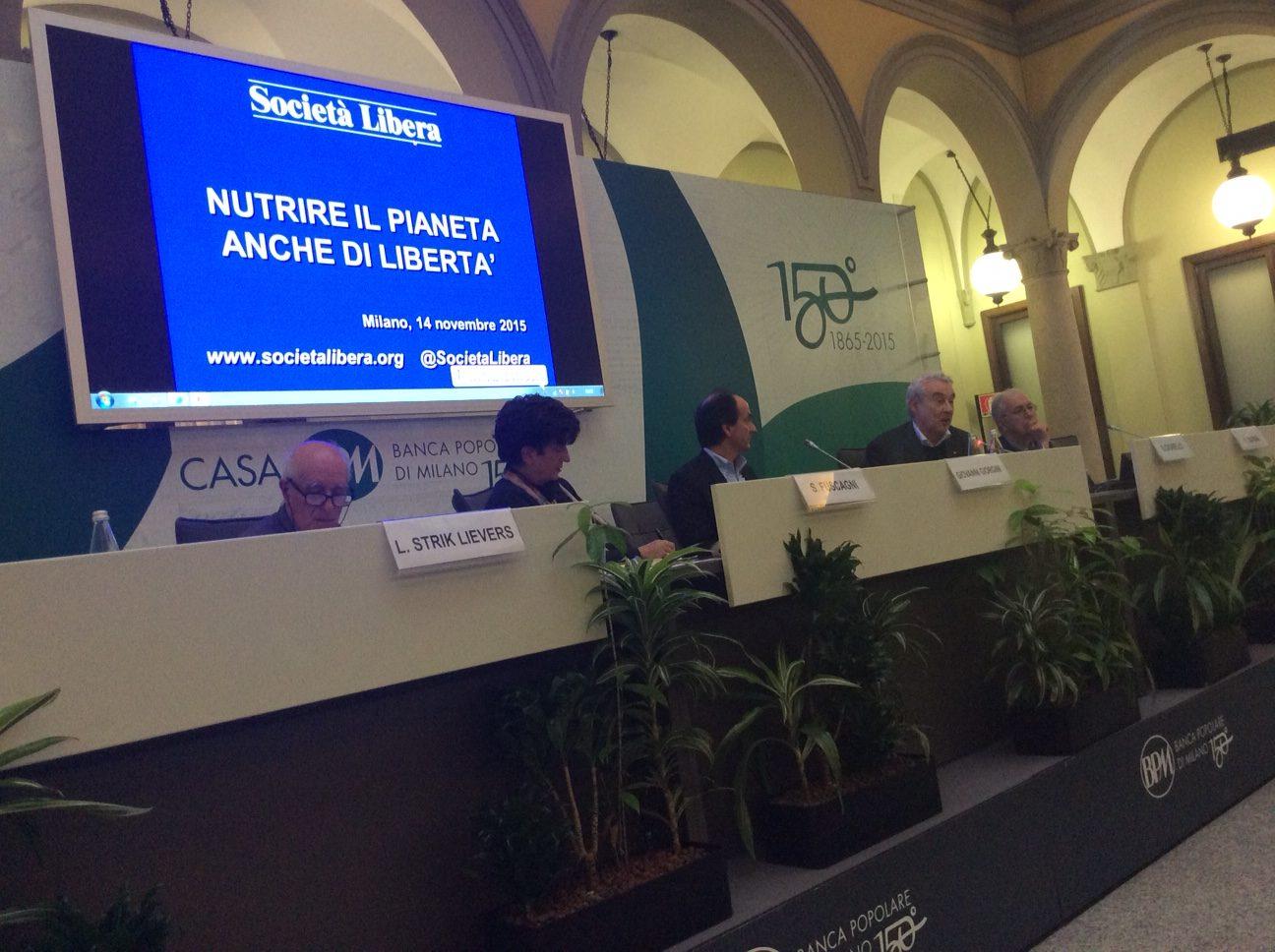 Milano, Nutrire il Pianeta anche di Libertà, 14 novembre 2015