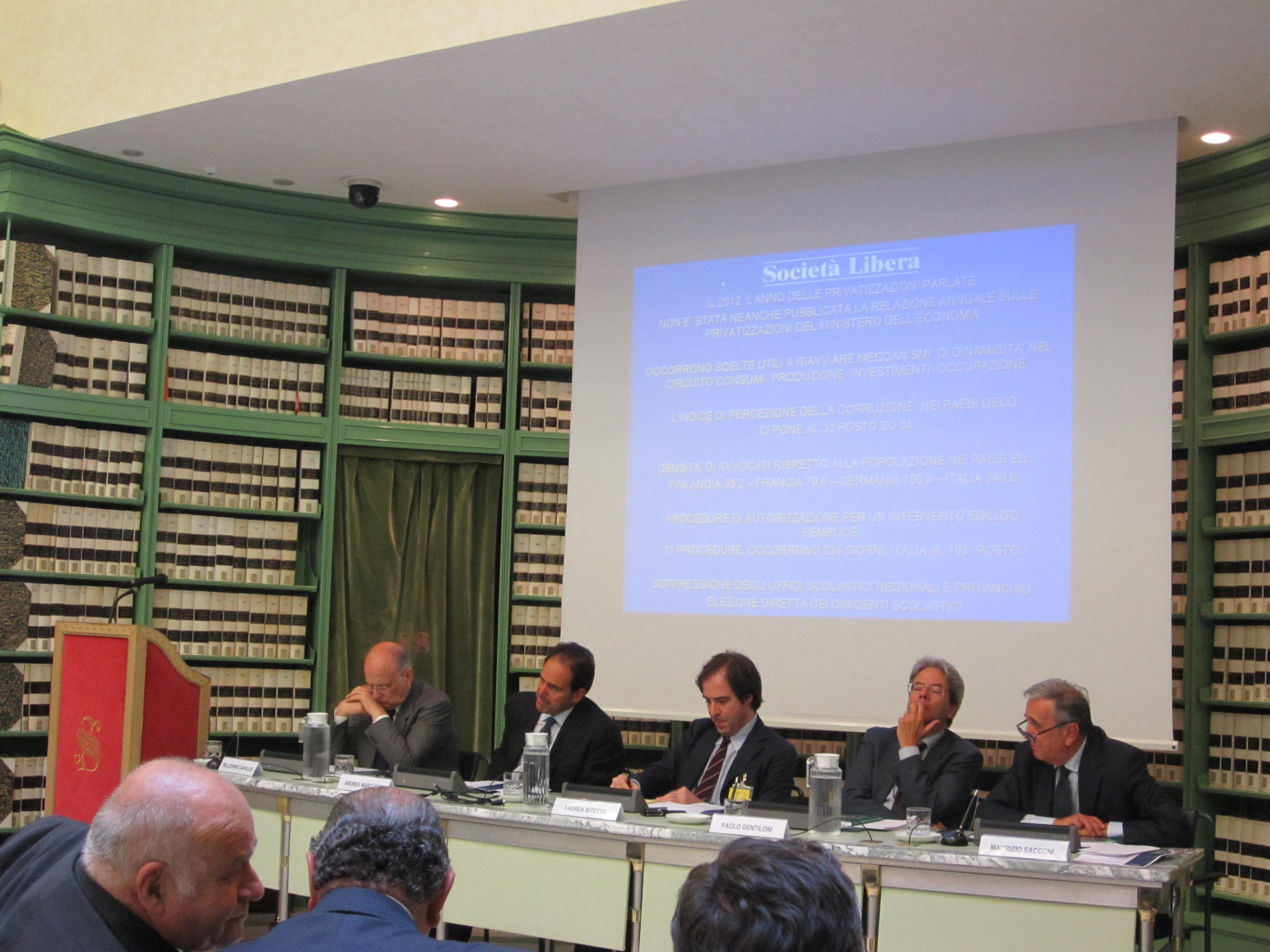 Politecnico MI, Firenze, Milano, Roma - Rapporto sulle liberalizzazioni - maggio giugno 2013