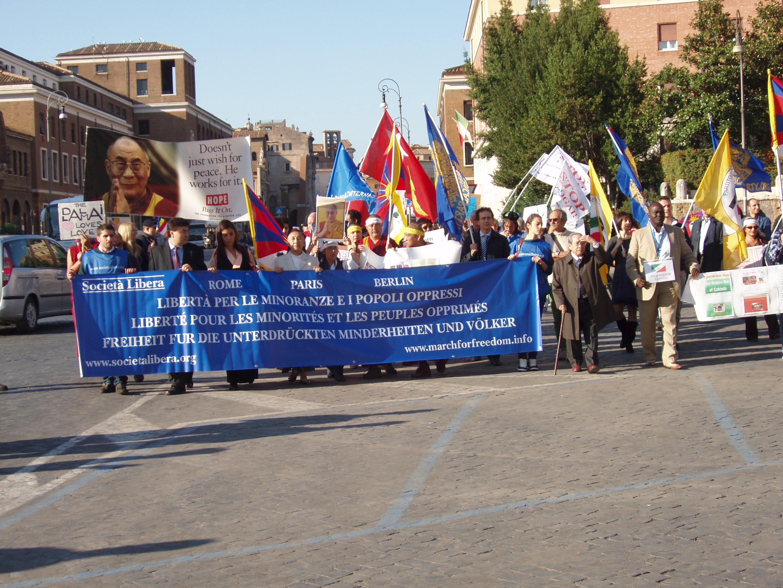 Roma, IV Marcia Internazionale per la Libertà, 22 ottobre 2011