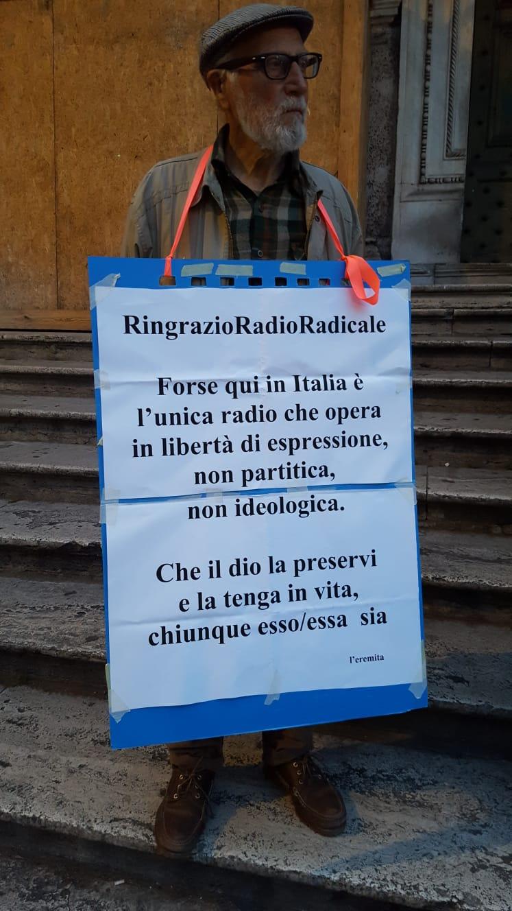 Roma, flash mod organizzato da Società Libera Per la vita di Radio Radicale
