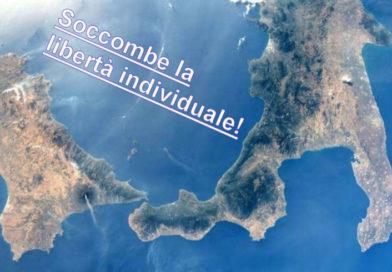 L'immagine dell'Italia meridionale vista dal satellite