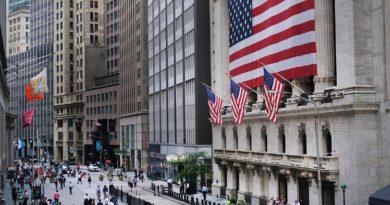 Un'immagine di Wall Street a New York