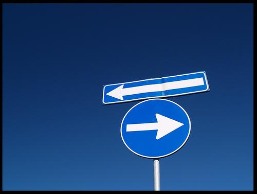 Segnali stradali contraddittori