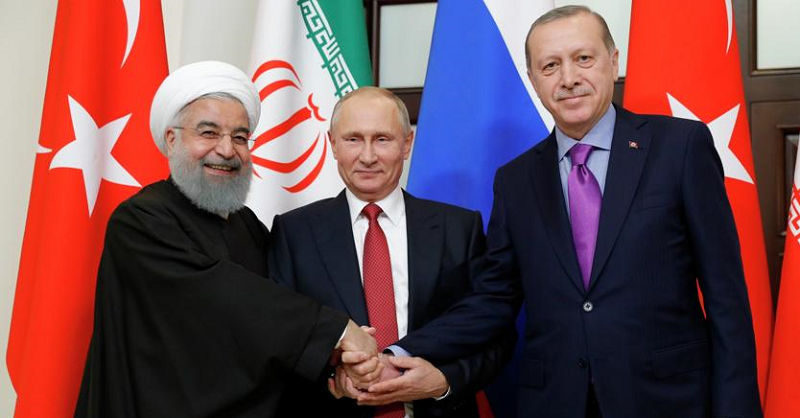 I Presidenti di Iran, Russia e Turchia