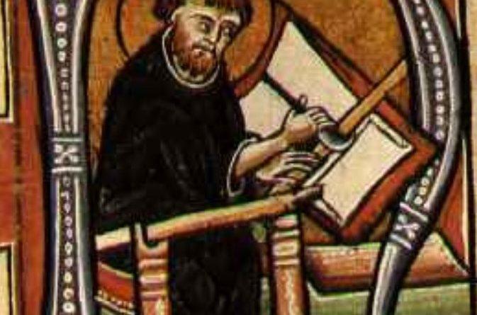 L'immagine di un monaco intento nelle sue attività