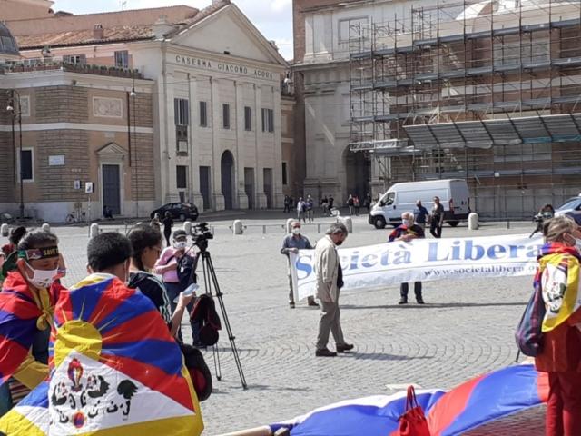 Roma, Manifestazione per l'anniversario di Piazza Tienanmen 4 giugno 2020