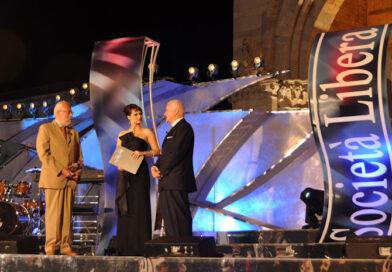 Franco Morganti, durante il Premio Internazionale alla libertà di Società Libera