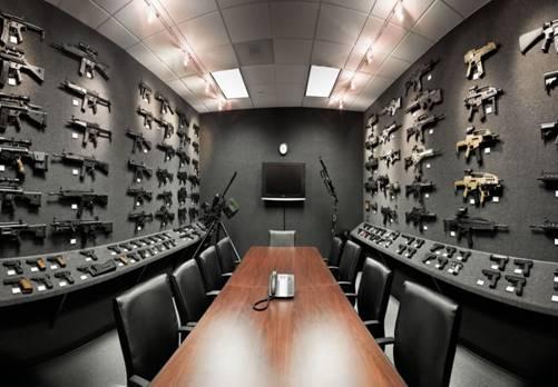 La stanza dei bottoni raffigurata da un'armeria